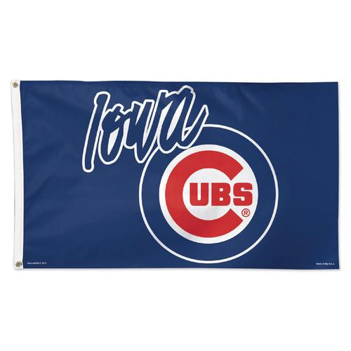Iowa Cubs Primary Logo 2-sided Flag