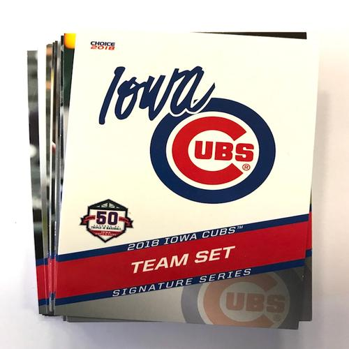 Iowa Cubs 2018 Iowa Cubs Team Card Set