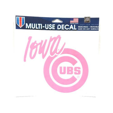 Iowa Cubs Breast Cancer Awareness Decal