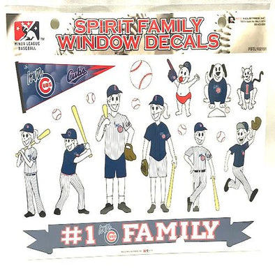 Iowa Cubs Family Sticker Sheet