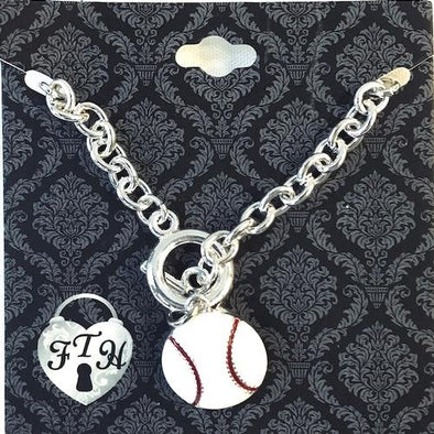 Iowa Cubs From the Heart Baseball Bracelet