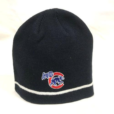 Youth Iowa Cubs Navy Knit Hat, Navy