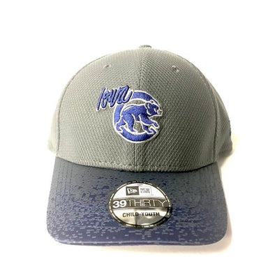 Iowa Cubs Jr Visor Blur 3930 Cap, Gray/Royal