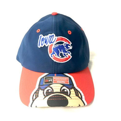 Iowa Cubs Youth Gene Cubbie Cap, Navy/Red
