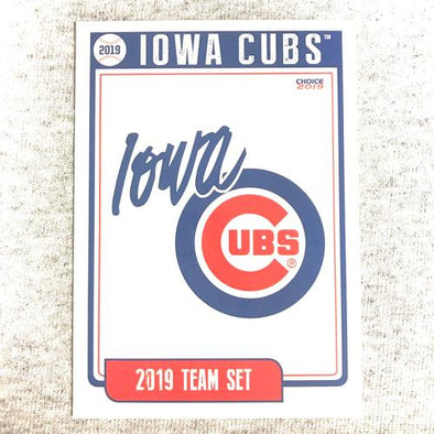 Iowa Cubs 2019 Iowa Cubs Team Card Set