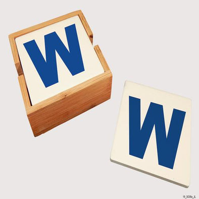 "Chicago Cubs ""W"" Coaster Set"