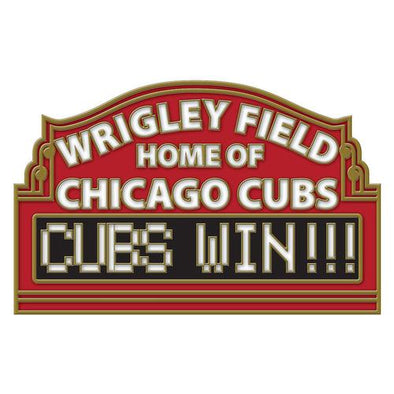 "Chicago Cubs ""CUBS WIN"" Lapel Pin"