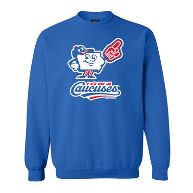 Iowa Caucuses Comfort Fleece Crewneck, Royal