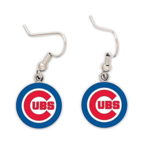 Chicago Cubs Circle Dangle Earrings