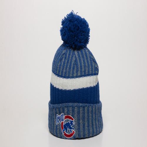Iowa Cubs Royal Knit with Pom