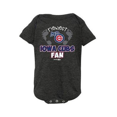 Iowa Cubs Tri-Blend Newest Onesie, Smoke