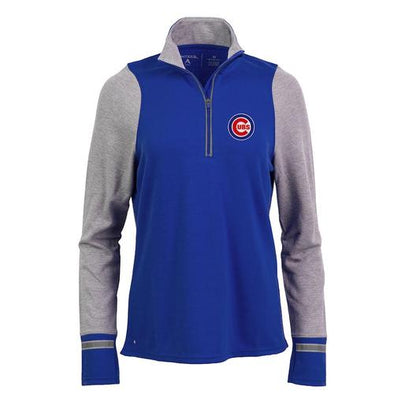 Chicago Cubs Women's Pitch Pullover, Royal