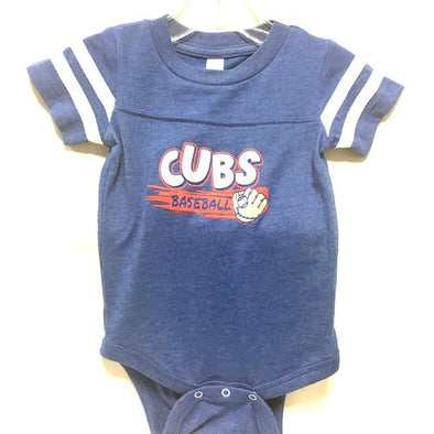 Chicago Cubs Infant Sporty Serious Onesie