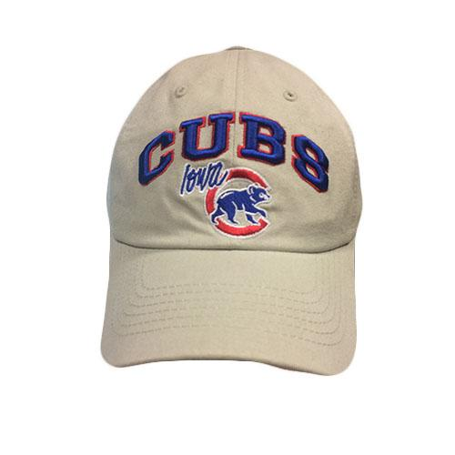 Iowa Cubs Tan Hawk Adjustable Cap