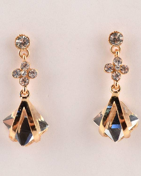 Inverted V Crystal Dangler Earrings