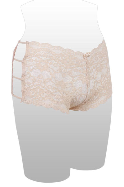 Ladies caged lace hipster