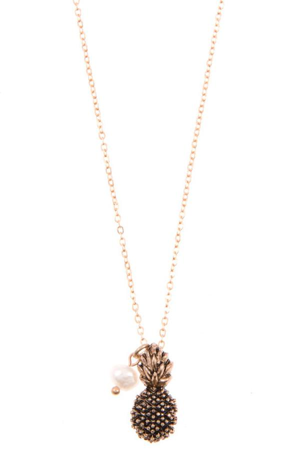 Ladies pineapple pendant necklace set