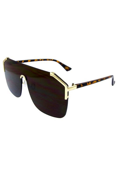Womens botic rimless retro sunglasses