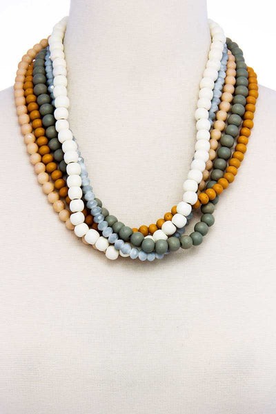 Stylish Trendy Multi Beaded Necklace