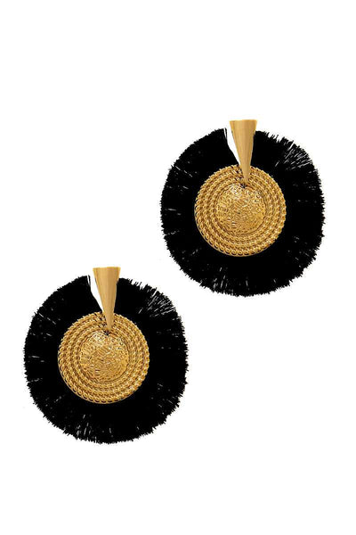 Modern Fashion Trendy Tassel Circle Earring
