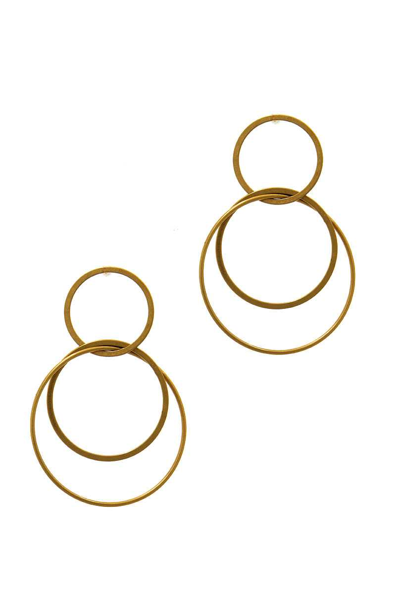 Multi Hoop Drop Earring