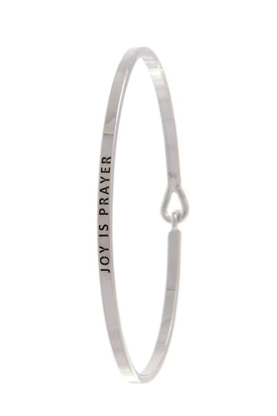 Joy Is Prayer Lettering Bangle