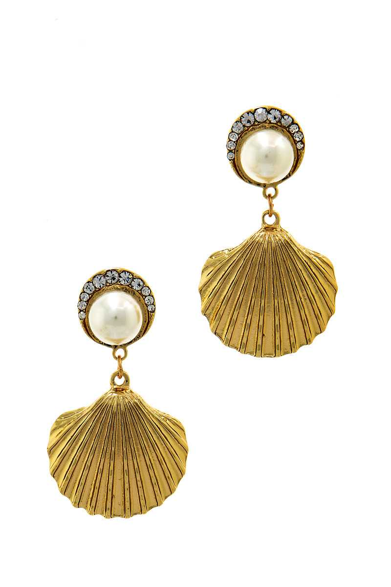 Fashion Trendy Sea Life Shell Drop Earring