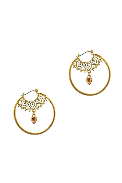 Stylish Fashion Rhinestone Hoop Earring