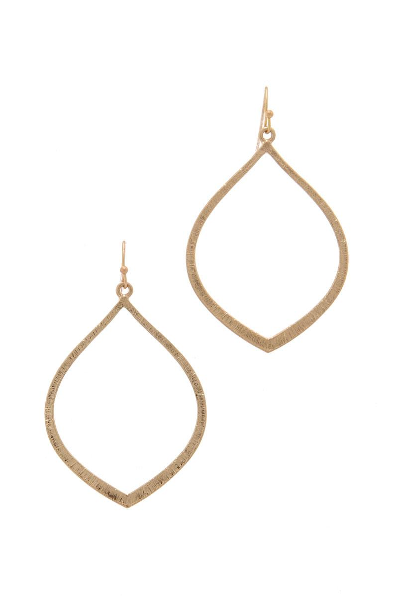Wide Pointed Oval Drop Earring