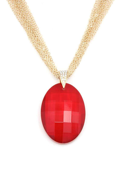 Oval Shape Pendant Necklace