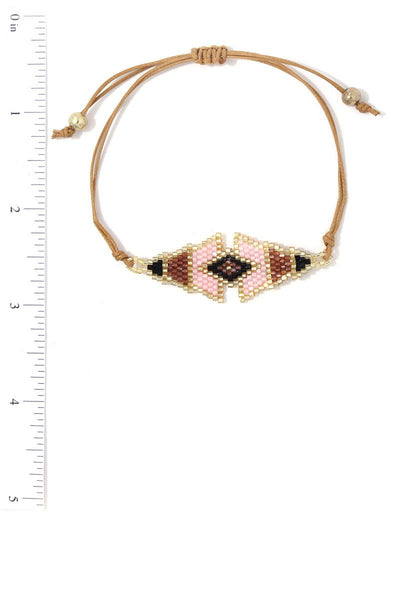 Triangular Shape Beaded Adjustable Bracelet