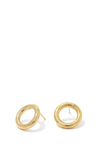 Tube Circle Post Earring