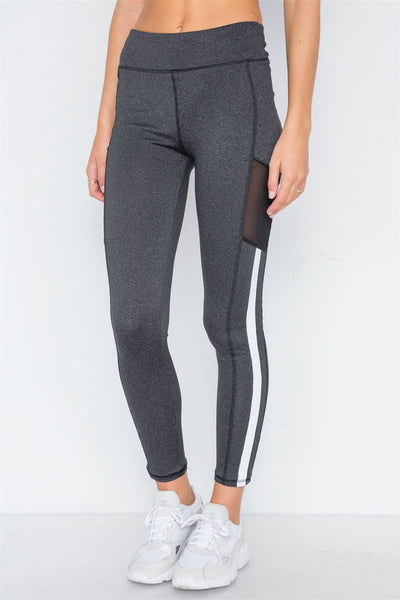 Charcoal Grey Active Two Piece Legging Jacket Set