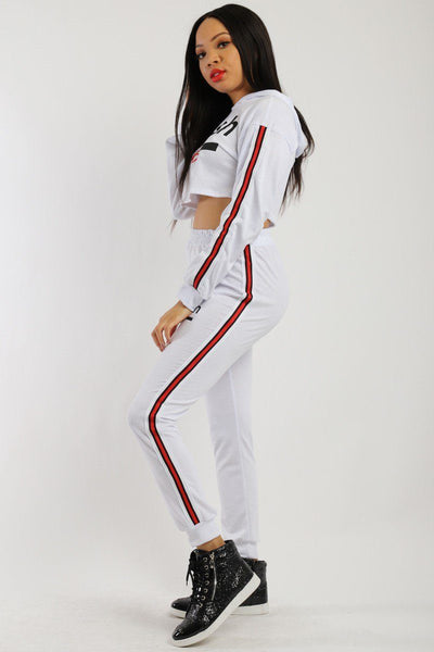 Solid, 2 Pieces Sweat Suit Set