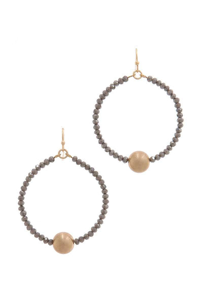Metal Ball Beaded Drop Earring
