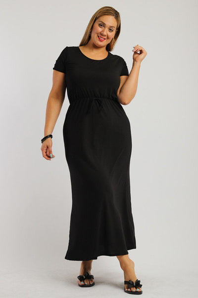 Solid, Ankle Length Maxi Dress