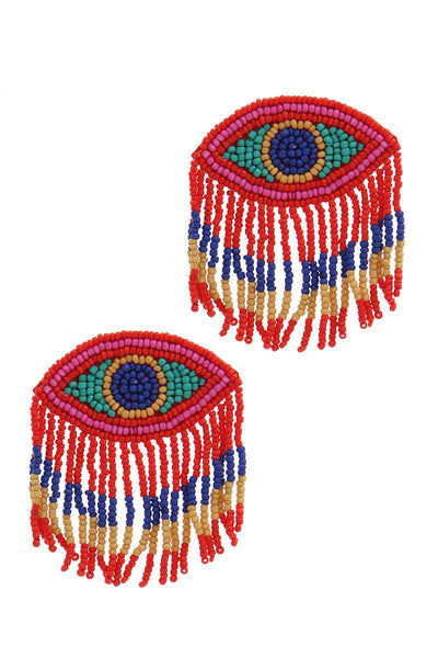 Stylish Evil Eye Drop Fringe Earring