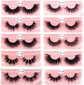 Blanca Fashion NEW Eyelashes 3D Real Mink Eyelashes Natural Long False Eyelashes 100% Hand Made False Lashes Eye Extension cilios Long lasting