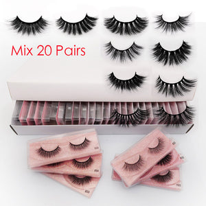 Blanca Fashion Wholesale Eyelashes 20/30/40/50 pcs Mink Eyelashes Wholesale Lashes