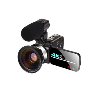 KOMERY 4K Video camcorder 48MP WIFI Live Streaming Vlogging For Youtube Digital Zoom Camera