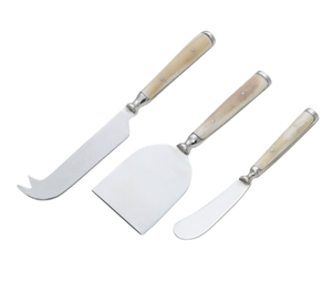 Cheese Knife Set - White Bone