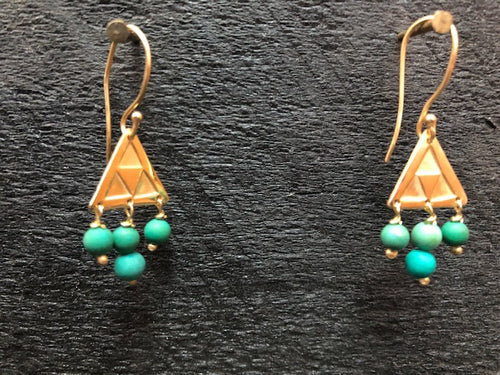 Triangular Drop Earrings