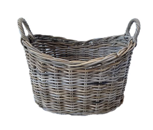 Petite Boat Shaped Rattan Basket