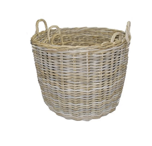 Giant Wicker Log Basket
