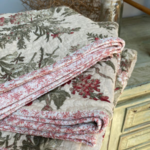Eva Quilted Cotton Coverlet Set