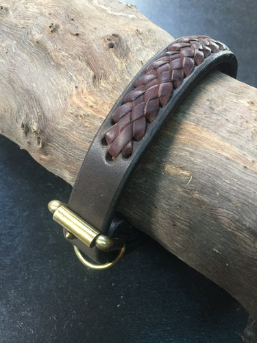Hand Crafted Braided Pet Collar, LARGE