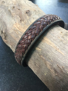 Hand Crafted Braided Pet Collar, MEDIUM