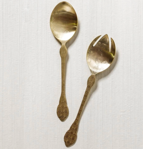Etched Salad Servers