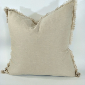 French Linen Fringe Cushion
