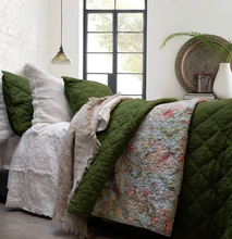 Load image into Gallery viewer, Arabella Olive Green King Size Coverlet Set